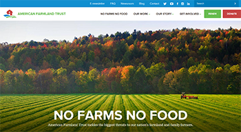 American Farmland Trust Website Sample