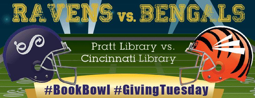 #GivingTuesday Pratt Library #BookBowl