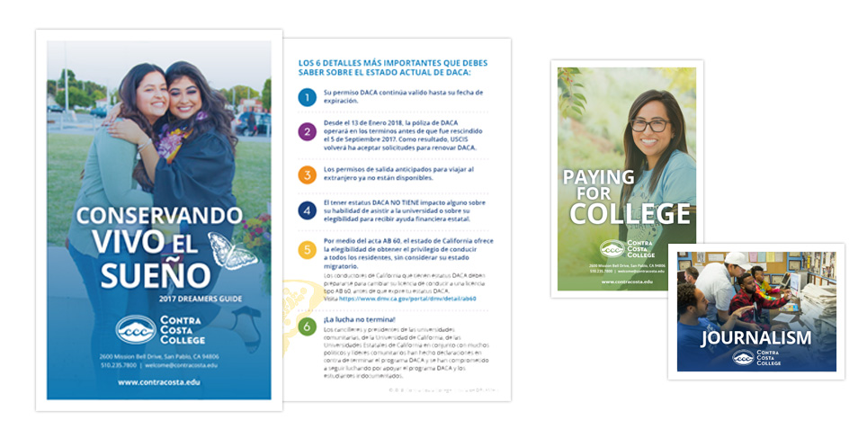 Contra Costa College Collateral Samples