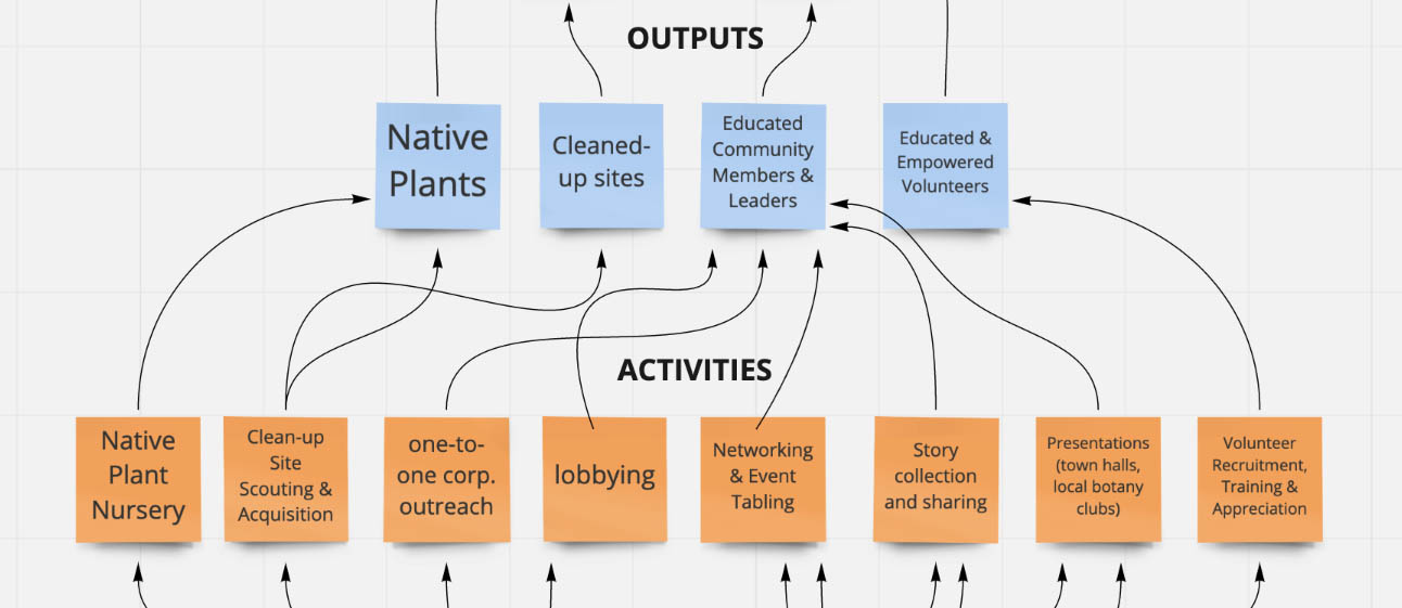 Rootid Sample Logic Model, Outputs and Activities, CART