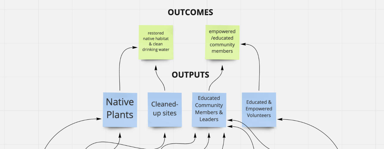 Rootid Sample Logic Model, Outputs and Outcomes, CART