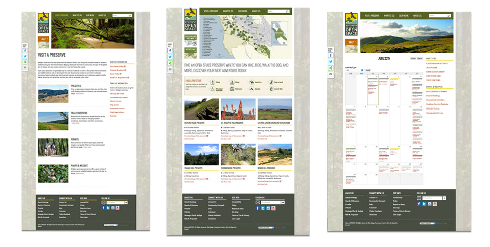 Midpeninsula Regional Open Space District Website Redevelopment