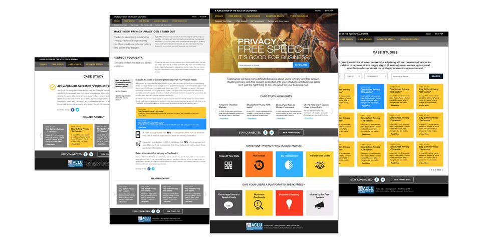 ACLU of California, Privacy & Free Speech Primer Website Designs