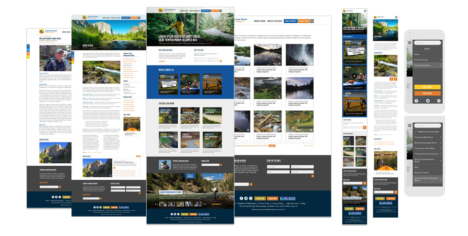 American Rivers Website Redesign