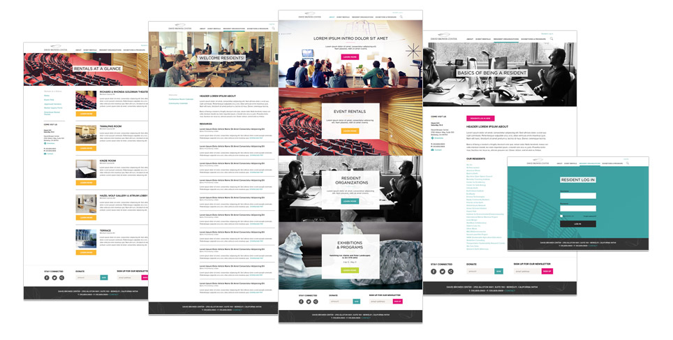Rootid's David Brower Center Website Redesign