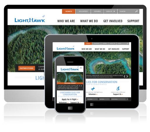 LightHawk Website Design