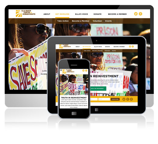 Ella Baker Center Website Revitalization