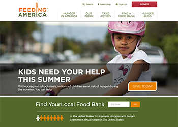 Feeding America Website Sample