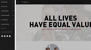 Gates Foundation Website Sample