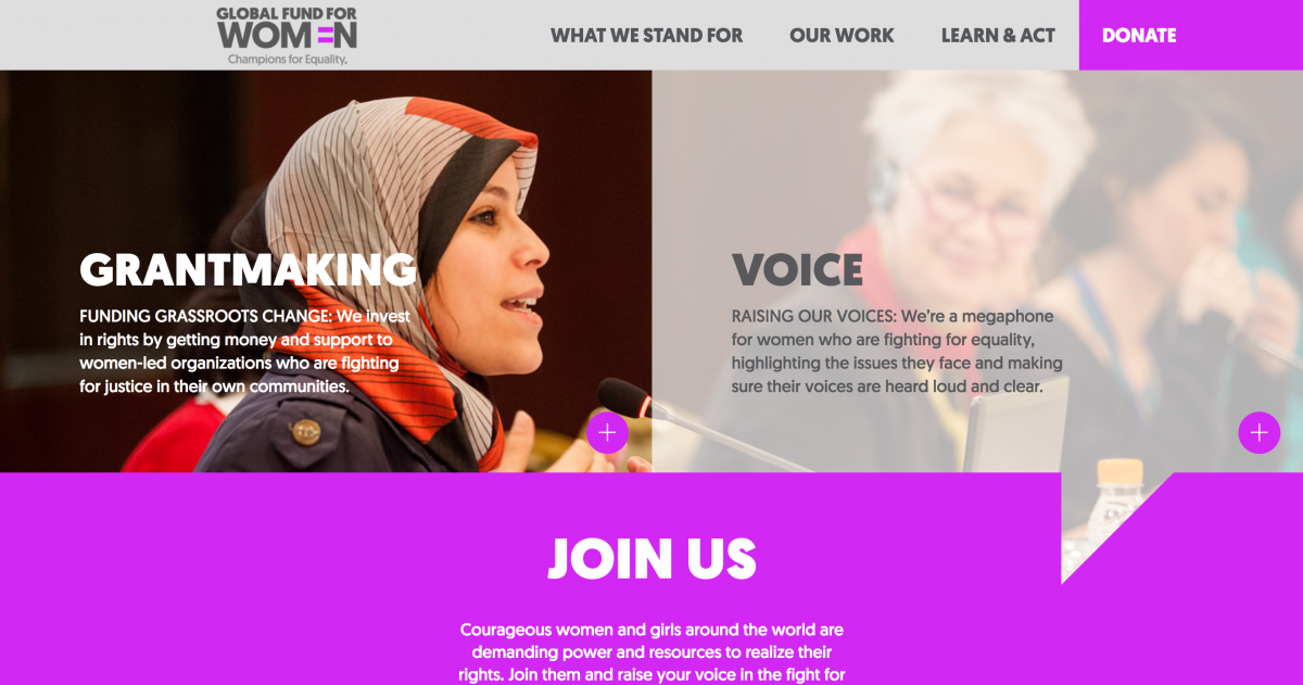 Global Fund For Women Website Sample