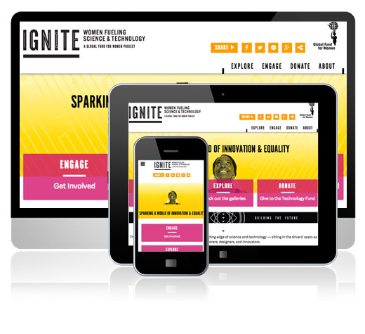 Responsive Website Development: Ignite Exhibition