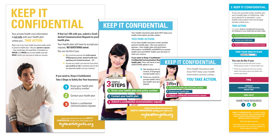 Keep It Confidential Campaign Assets and Website