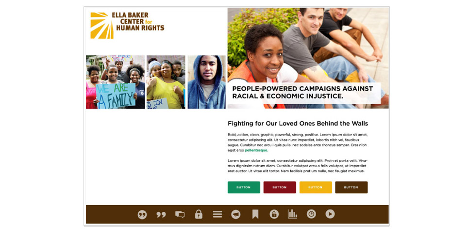 Ella Baker Center Website Moodboard