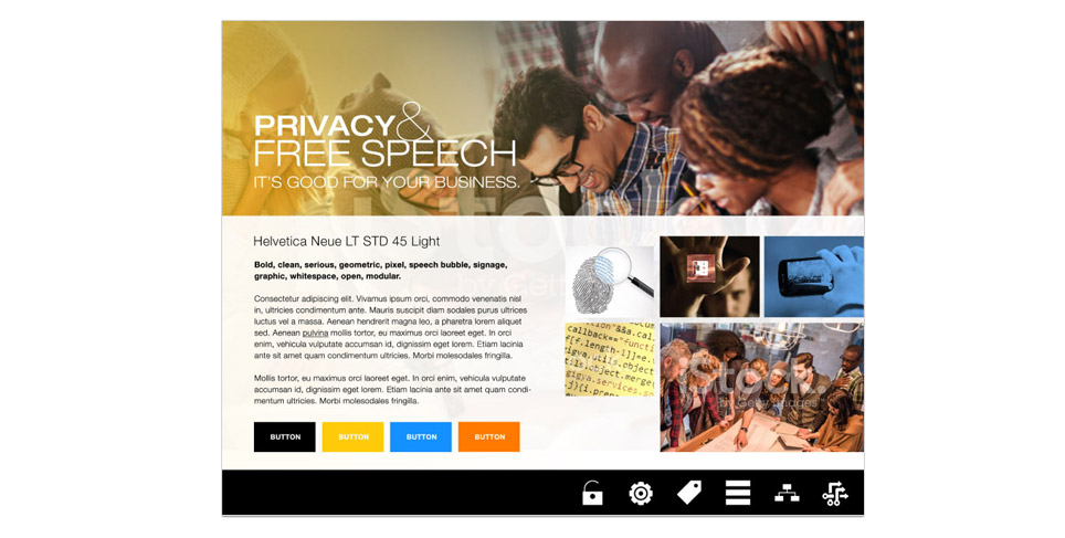 ACLU of California, Privacy & Free Speech Primer Moodboard