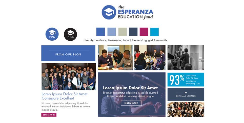 Rootid's Esperanza Education Fund Website Redesign