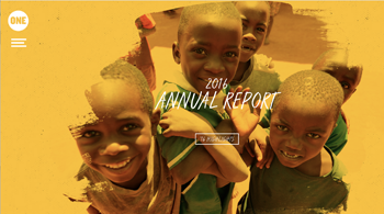 One.org Annual Report Sample