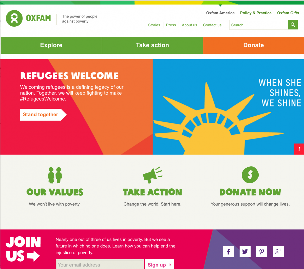 Oxfam Website Sample