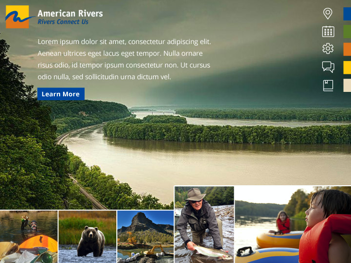 Moodboard example for American Rivers
