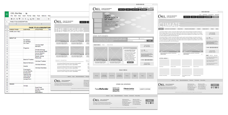 CIEL Information Architecture and Wireframes